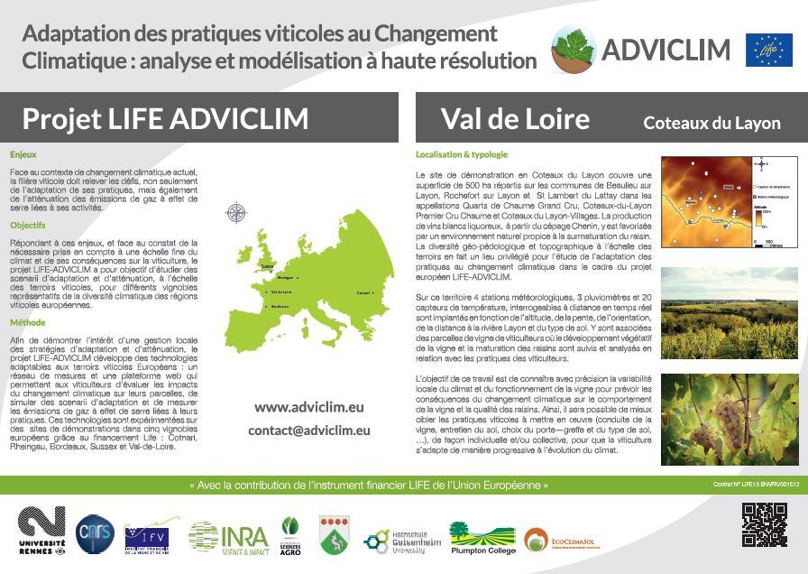 Notice board of Coteaux du Layon
