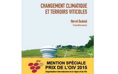 Special mention of the OIV prize for the book coordinated by Hervé Quénol