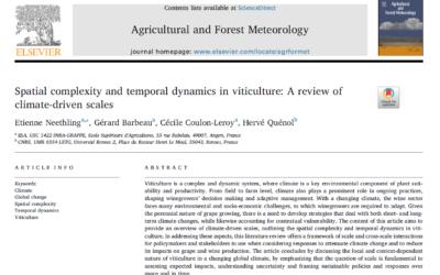 Complexité spatiale et dynamique temporelle en viticulture: revue des échelles climatiques
